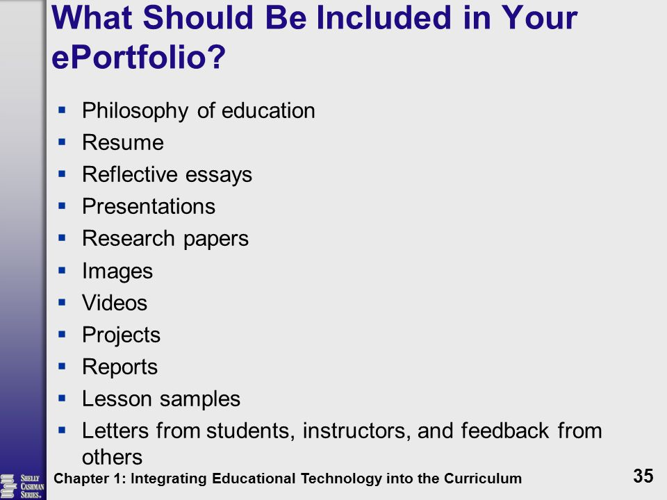 What Should Be Included in Your ePortfolio