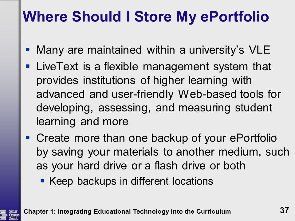 Where Should I Store My ePortfolio