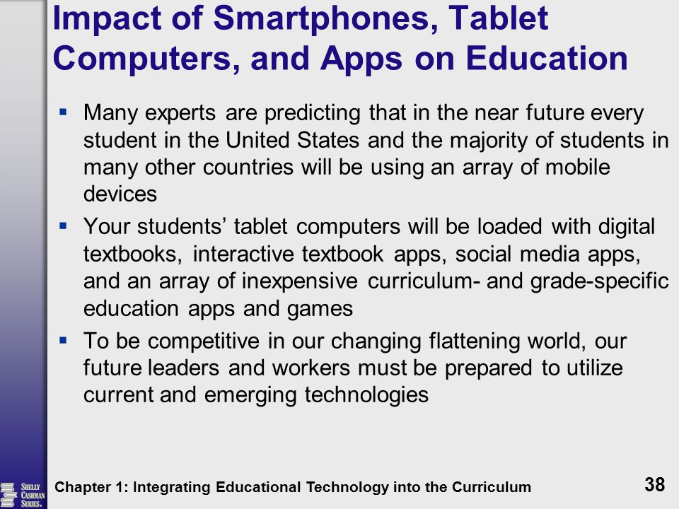 Impact of Smartphones, Tablet Computers, and Apps on Education