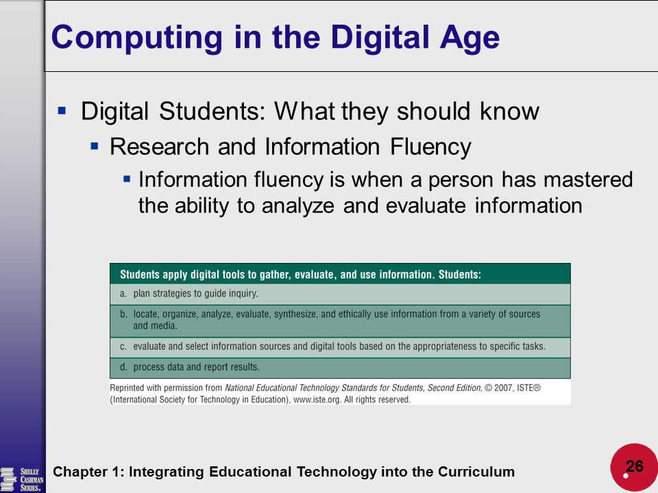 how to integrate computers into the curriculum essay Dakota state university focuses on the integration of technology into all its degree programs it's most popular majors include computer and network security.