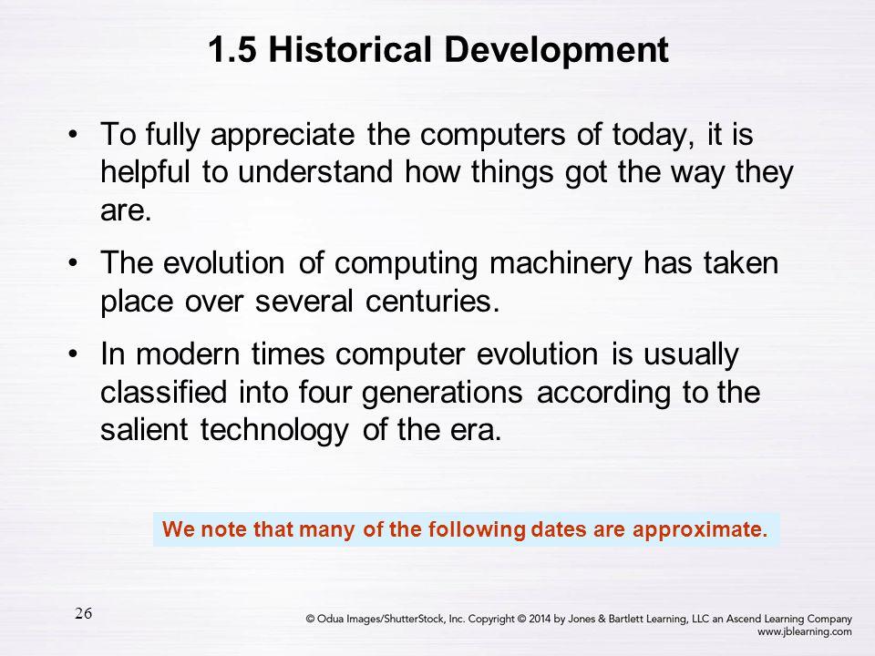 1.5 Historical Development