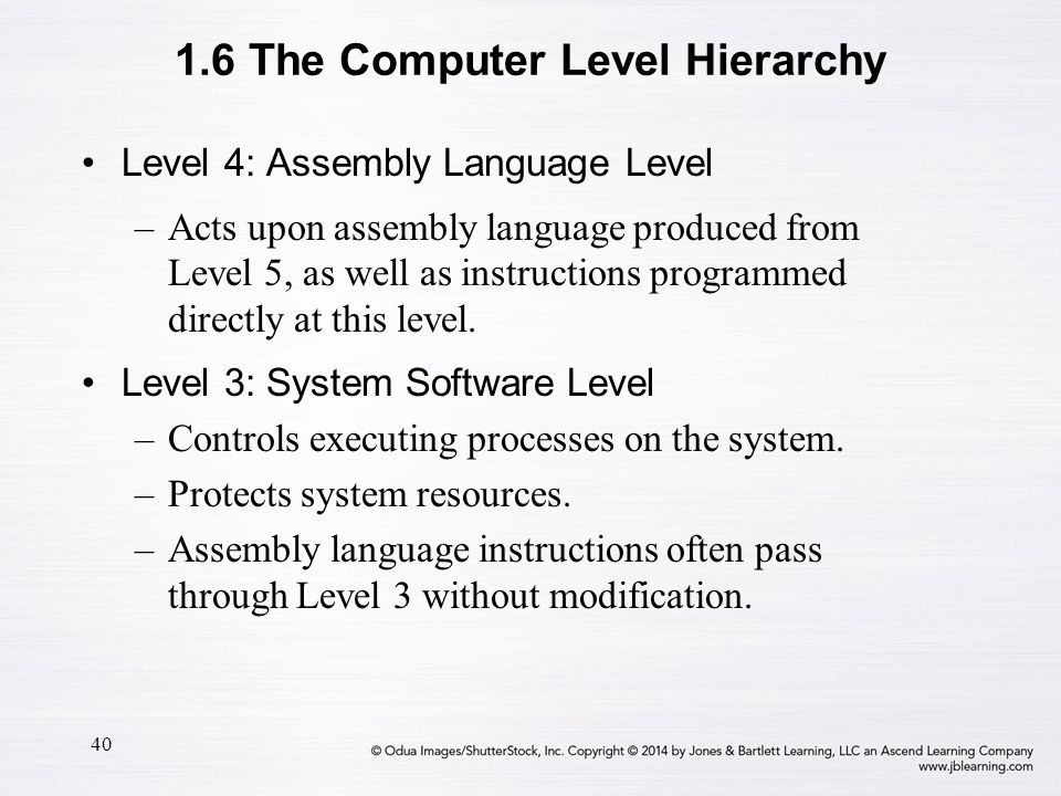 1.6 The Computer Level Hierarchy
