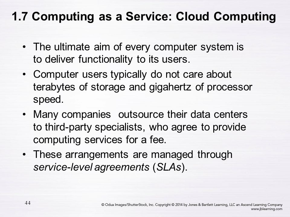 1.7 Computing as a Service: Cloud Computing