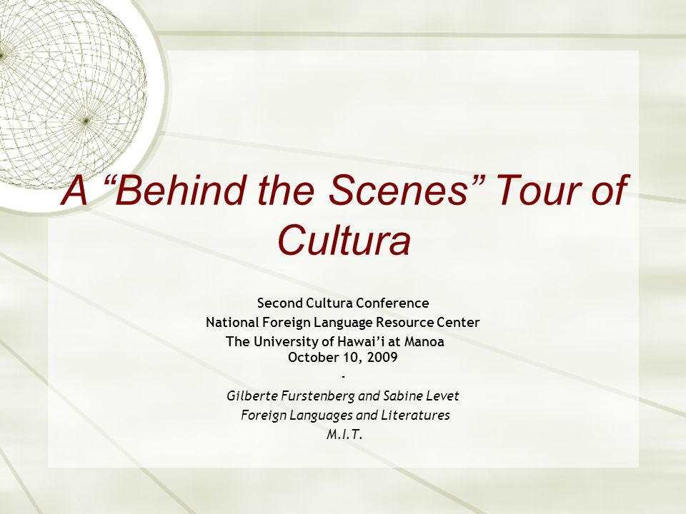 A Behind the Scenes Tour of Cultura