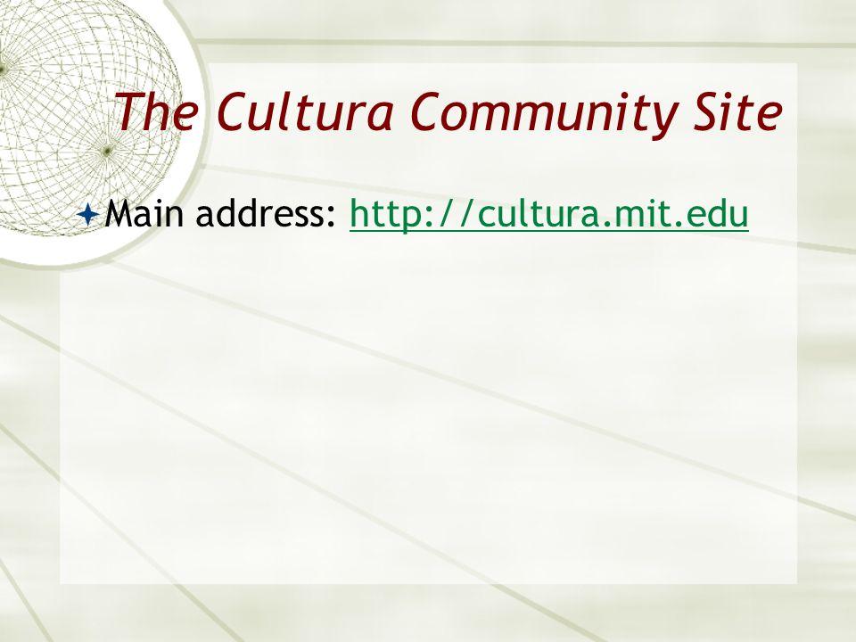 The Cultura Community Site