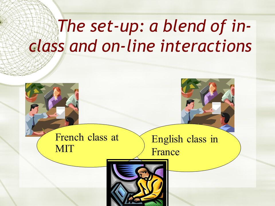 The set-up: a blend of in-class and on-line interactions