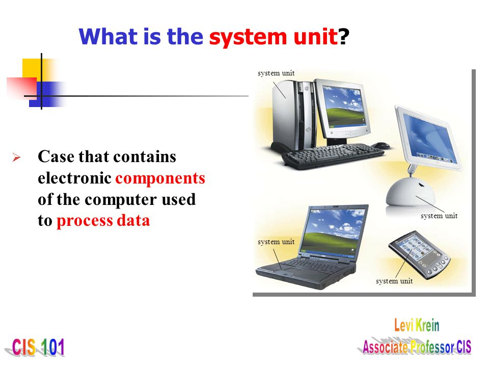 What is the system unit. system unit.