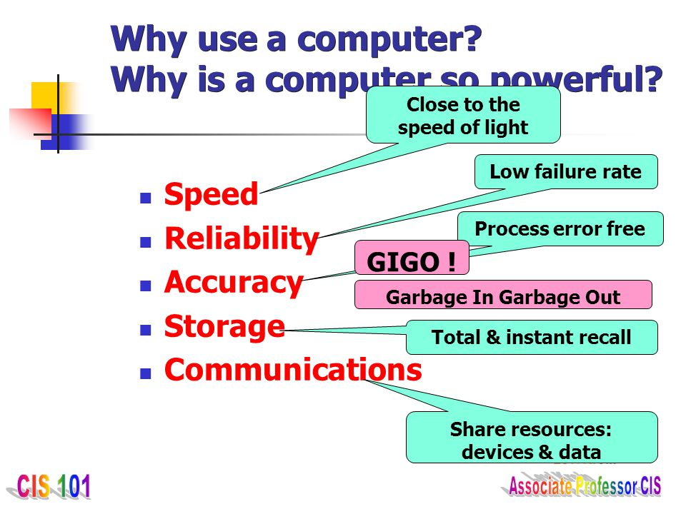 Why use a computer Why is a computer so powerful