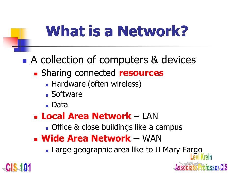 What is a Network A collection of computers & devices