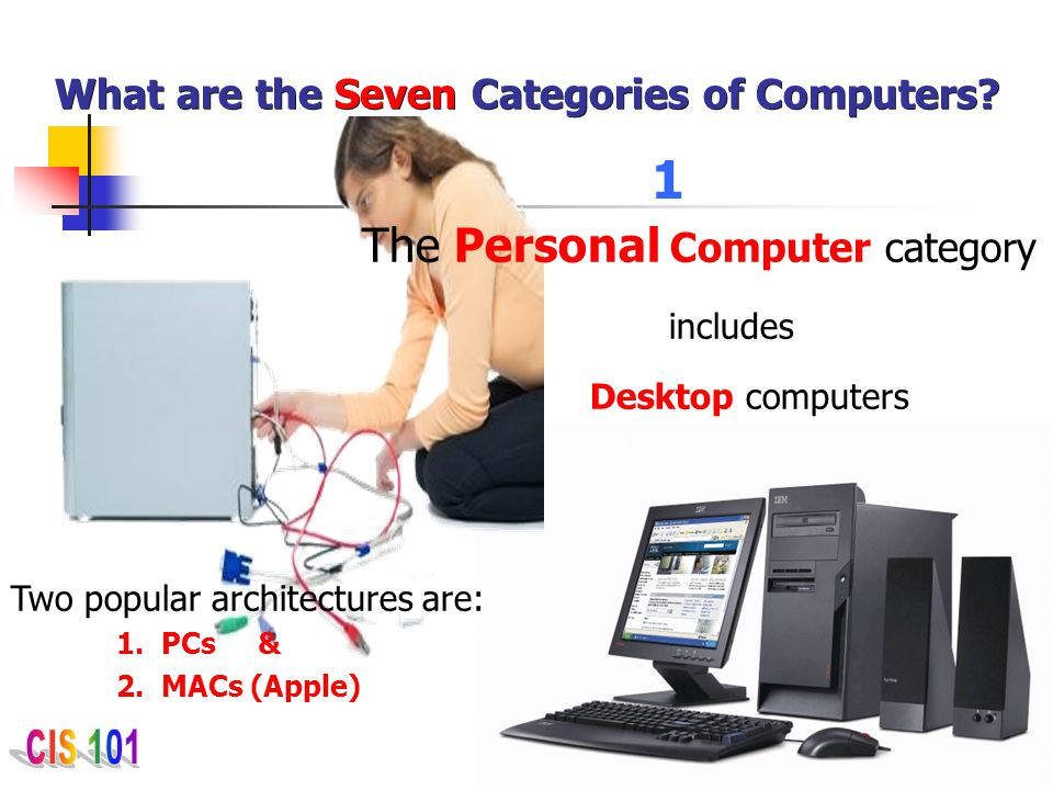 What are the Seven Categories of Computers
