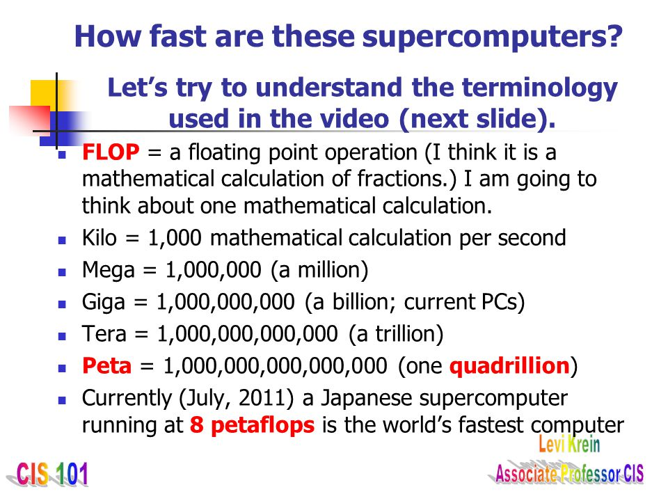 How fast are these supercomputers