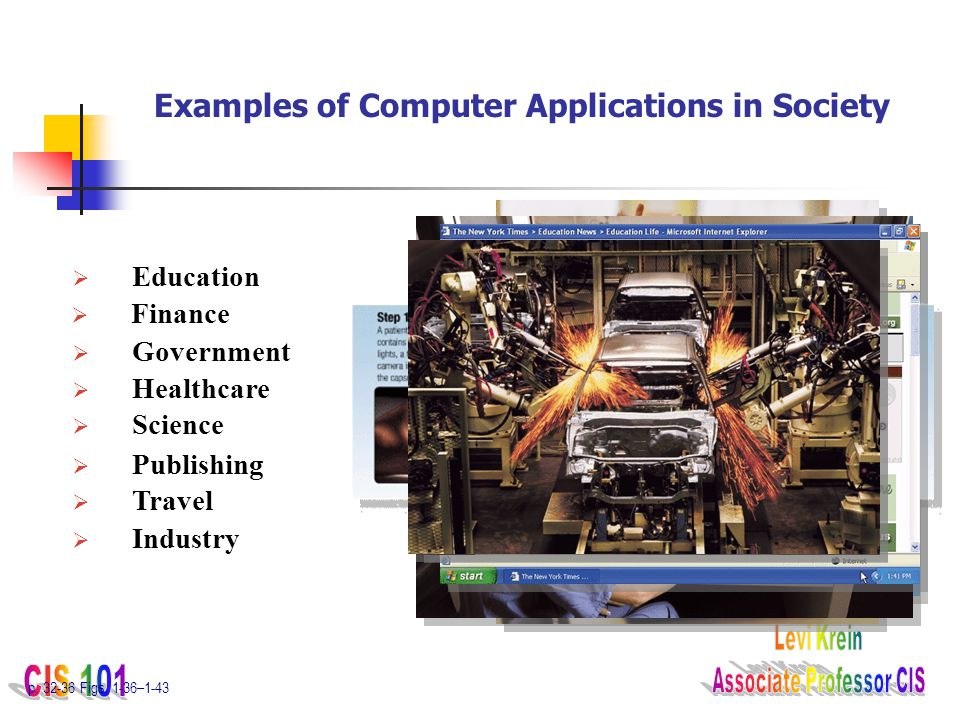 Examples of Computer Applications in Society