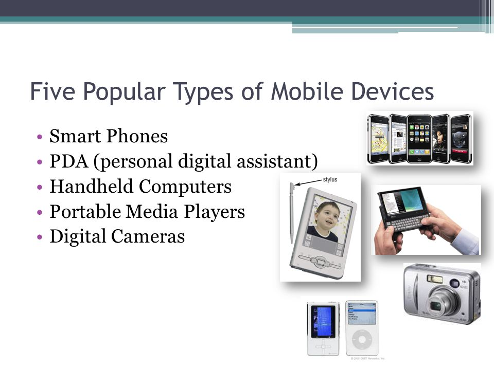 Five Popular Types of Mobile Devices