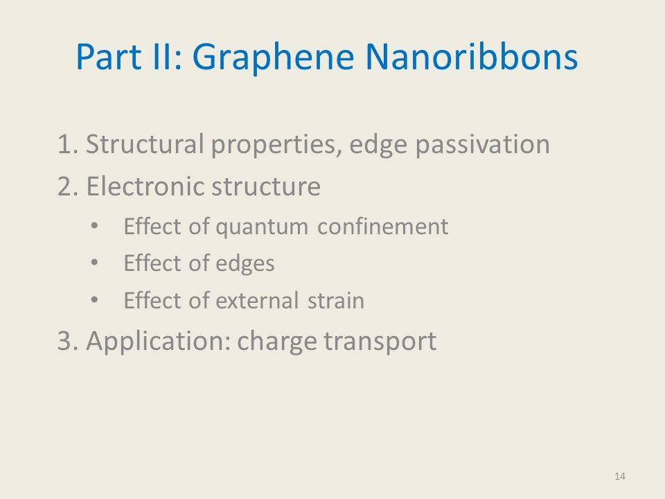Part II: Graphene Nanoribbons