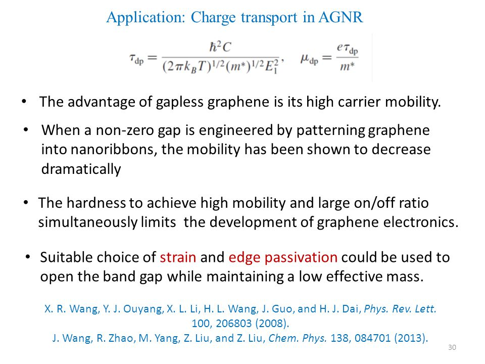 Application: Charge transport in AGNR
