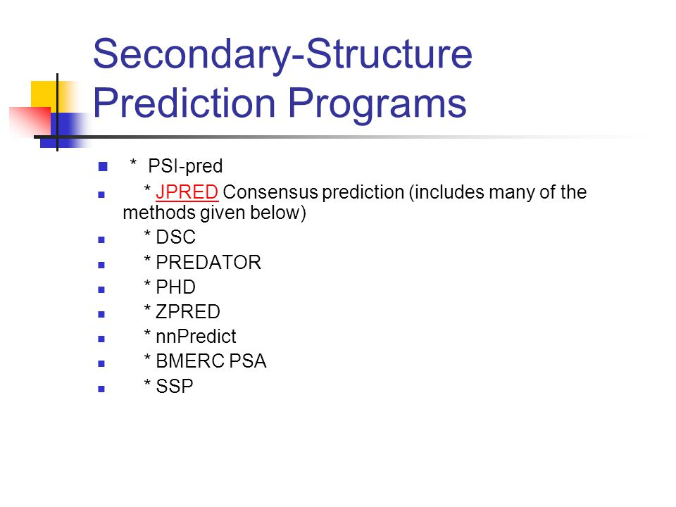 Secondary-Structure Prediction Programs