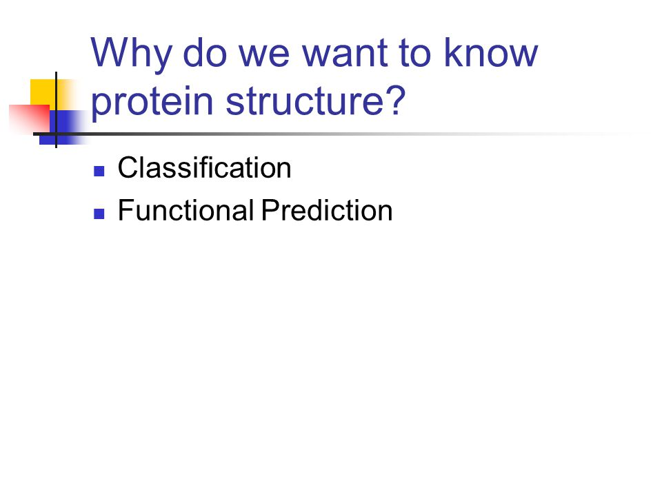 Why do we want to know protein structure