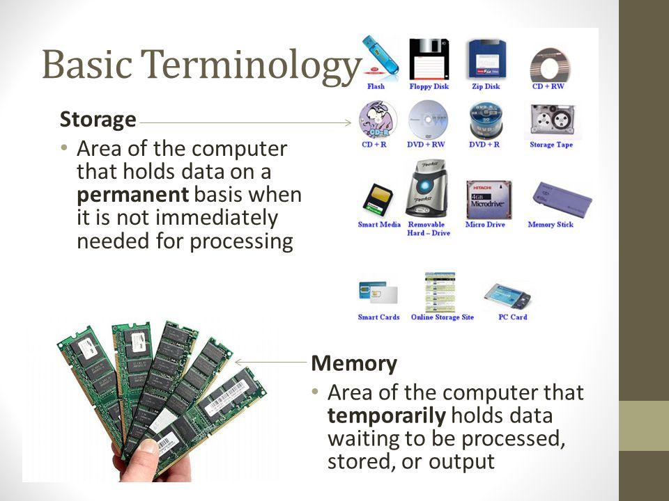 Basic Terminology Storage