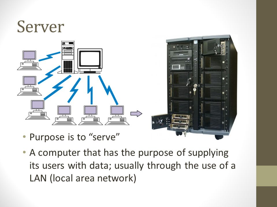 Server Purpose is to serve
