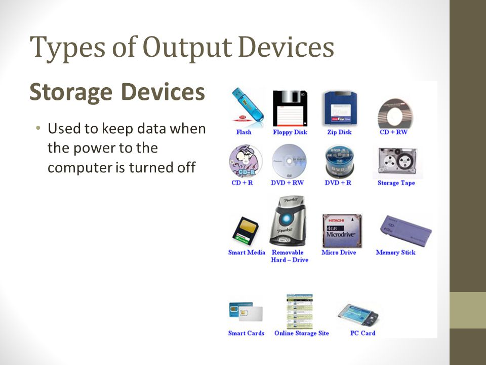 Types of Output Devices