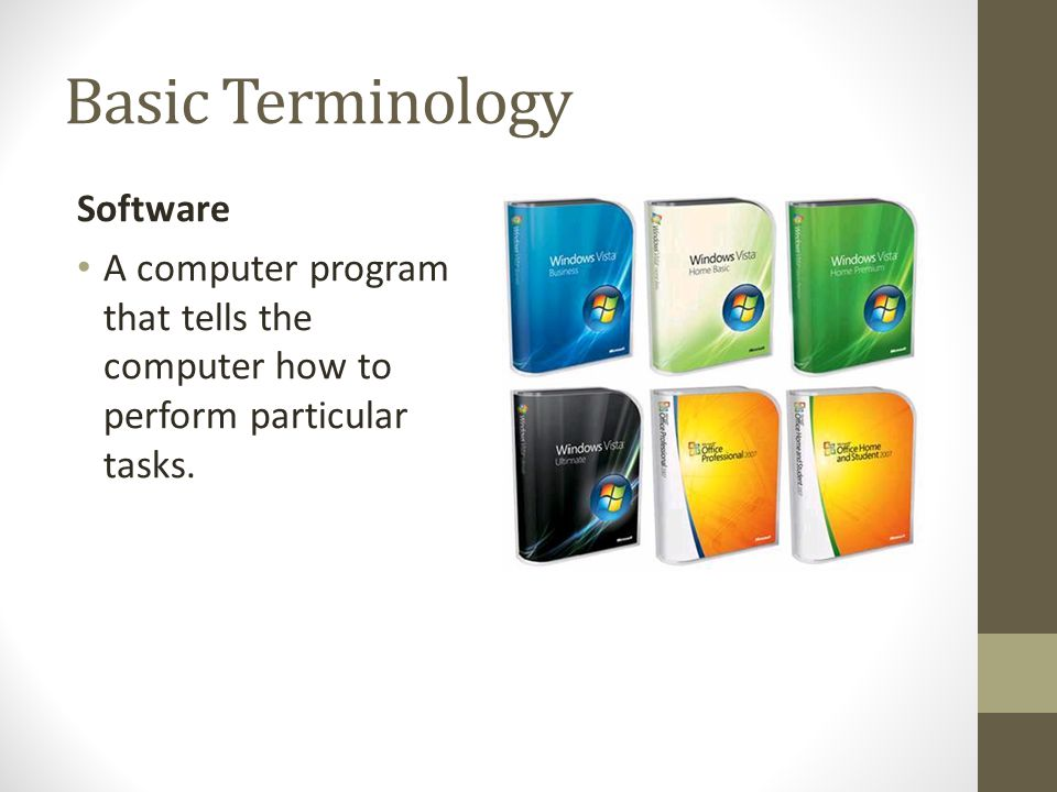 Basic Terminology Software