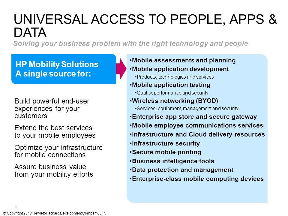 Universal access to people, apps & data