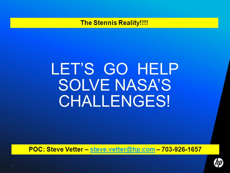 Let's go help solve nasa's challenges!