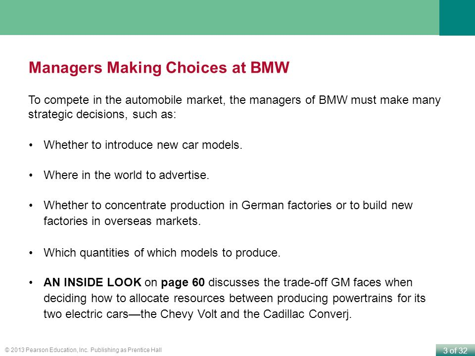 Managers Making Choices at BMW