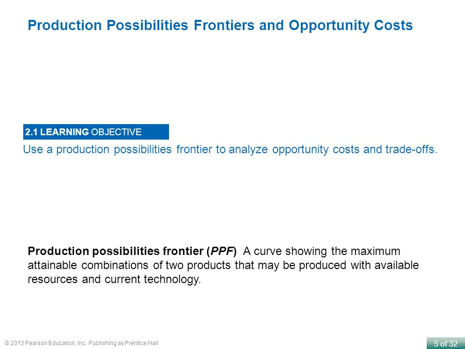 Production Possibilities Frontiers and Opportunity Costs