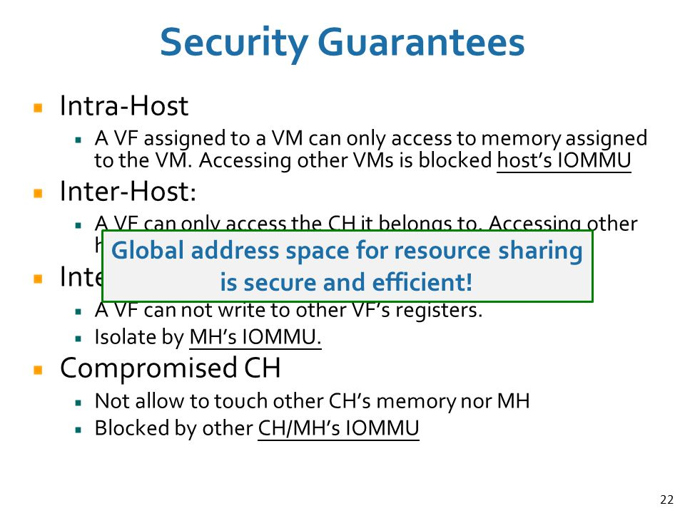 Global address space for resource sharing is secure and efficient!