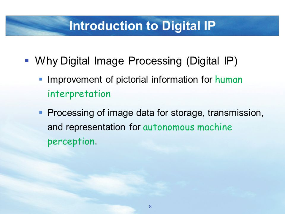 Introduction to Digital IP