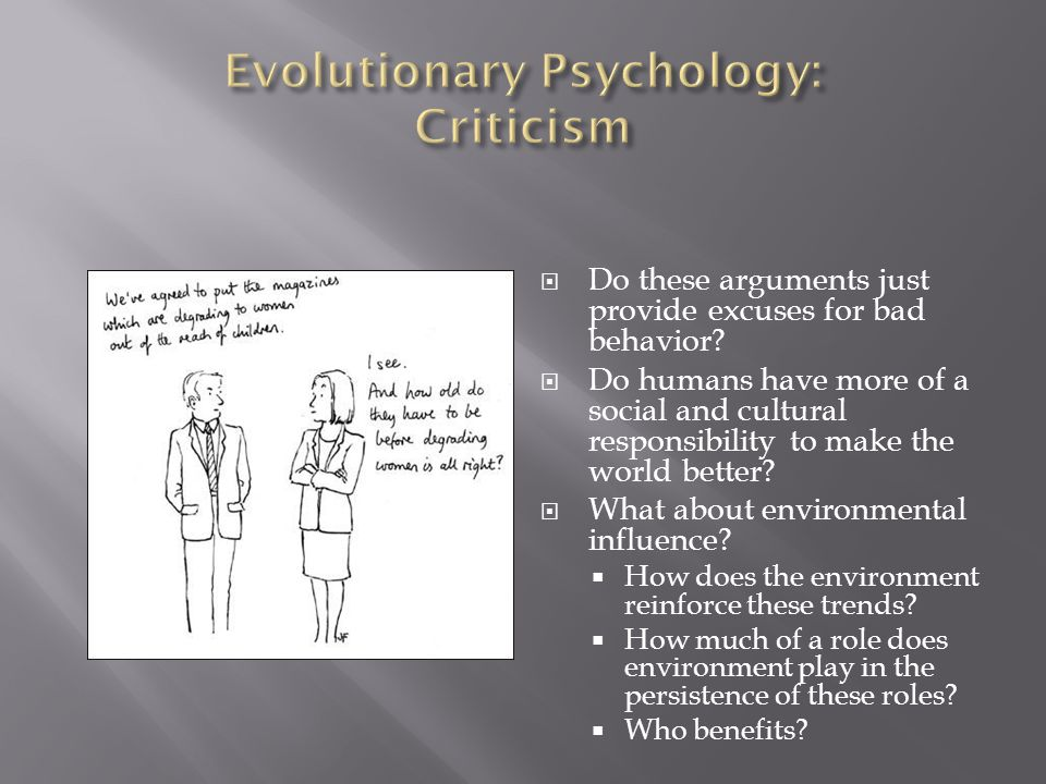 Evolutionary Psychology: Criticism