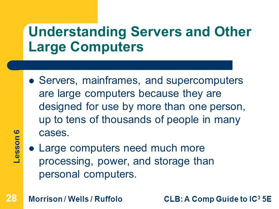 Understanding Servers and Other Large Computers
