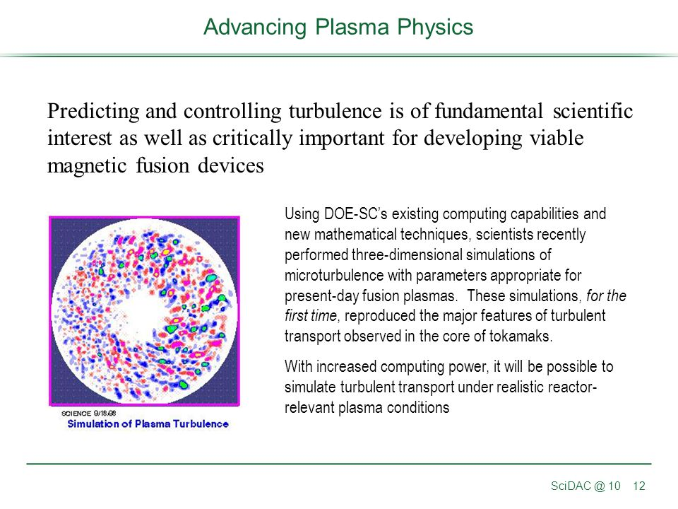 Advancing Plasma Physics