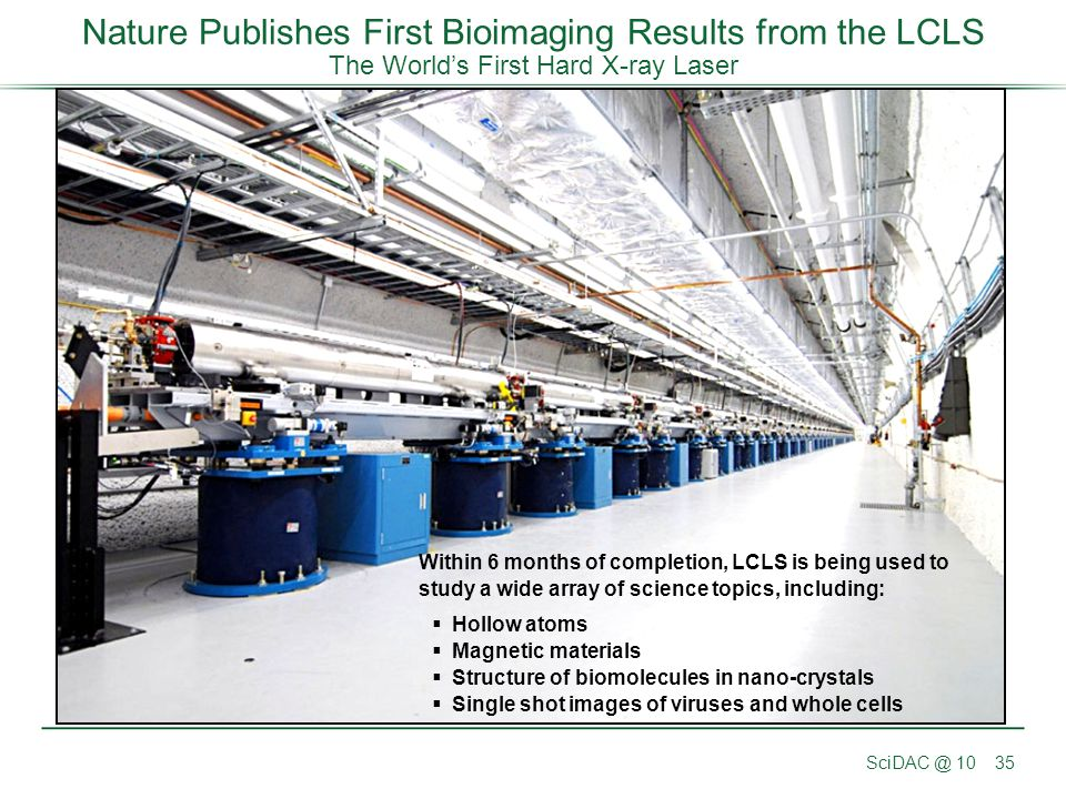 Nature Publishes First Bioimaging Results from the LCLS The World's First Hard X-ray Laser
