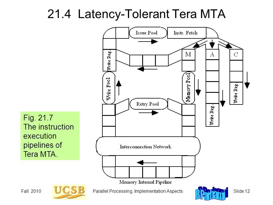 21.4 Latency-Tolerant Tera MTA