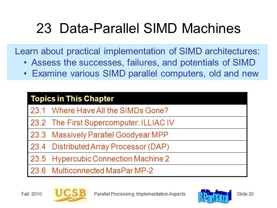 23 Data-Parallel SIMD Machines