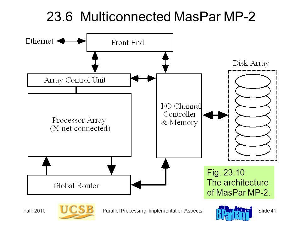 23.6 Multiconnected MasPar MP-2
