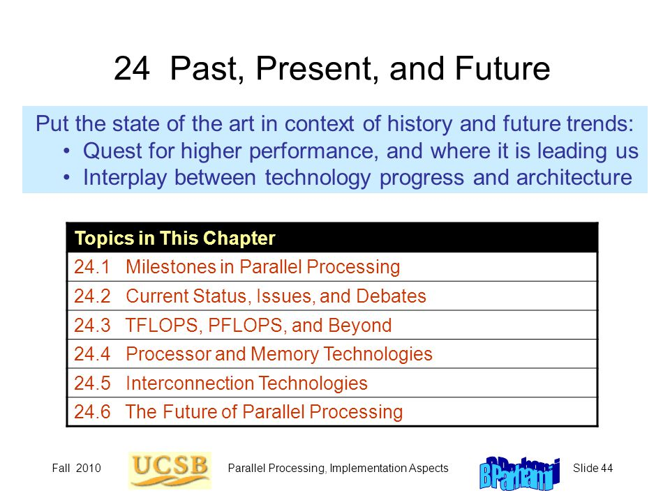 24 Past, Present, and Future