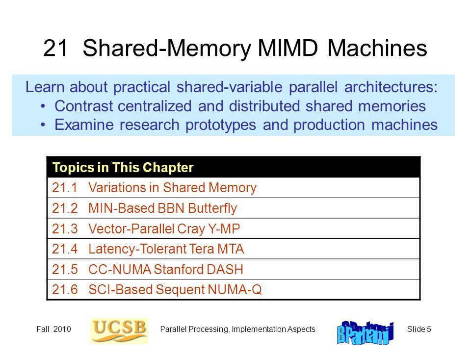 21 Shared-Memory MIMD Machines