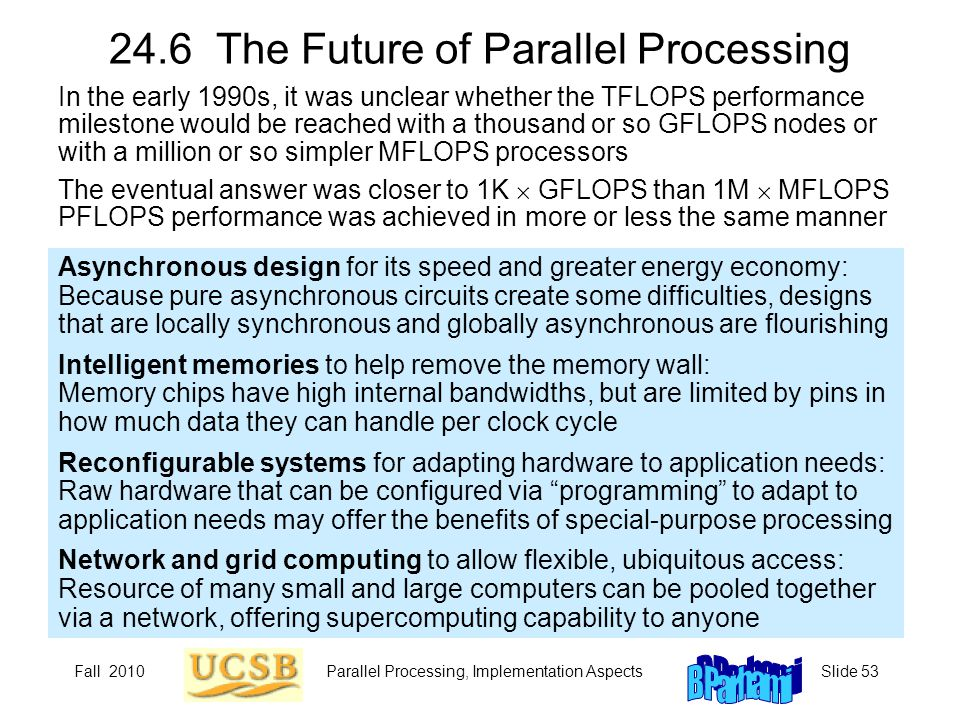 24.6 The Future of Parallel Processing
