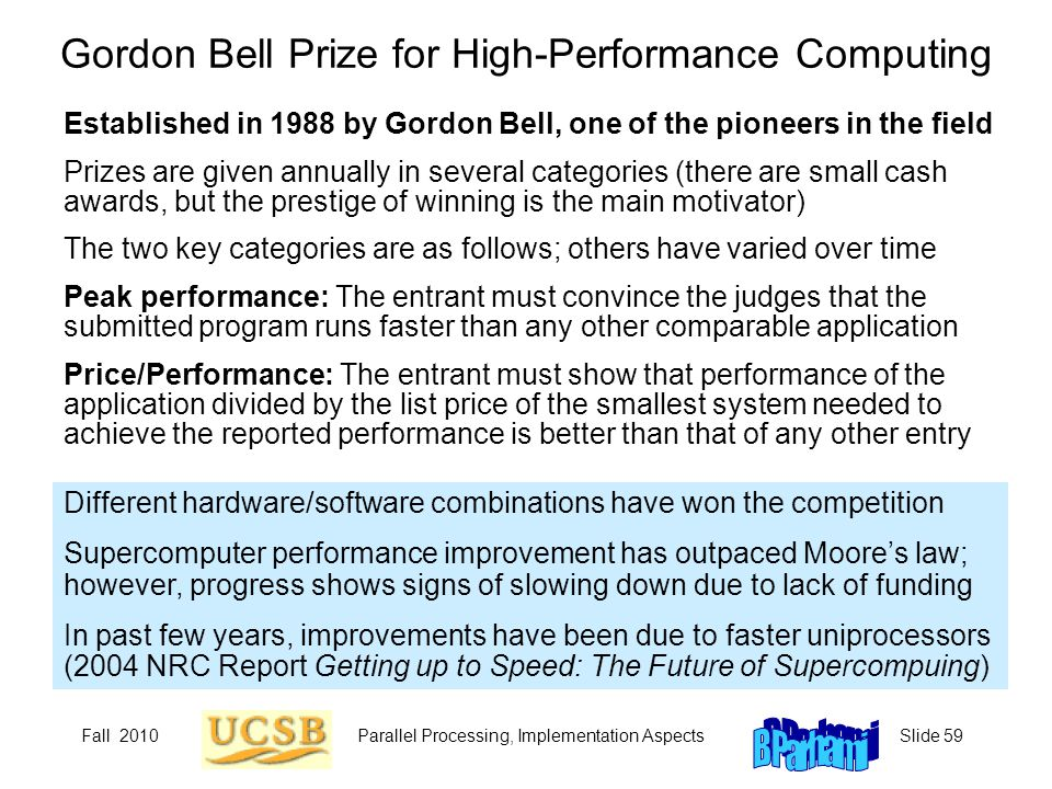 Gordon Bell Prize for High-Performance Computing