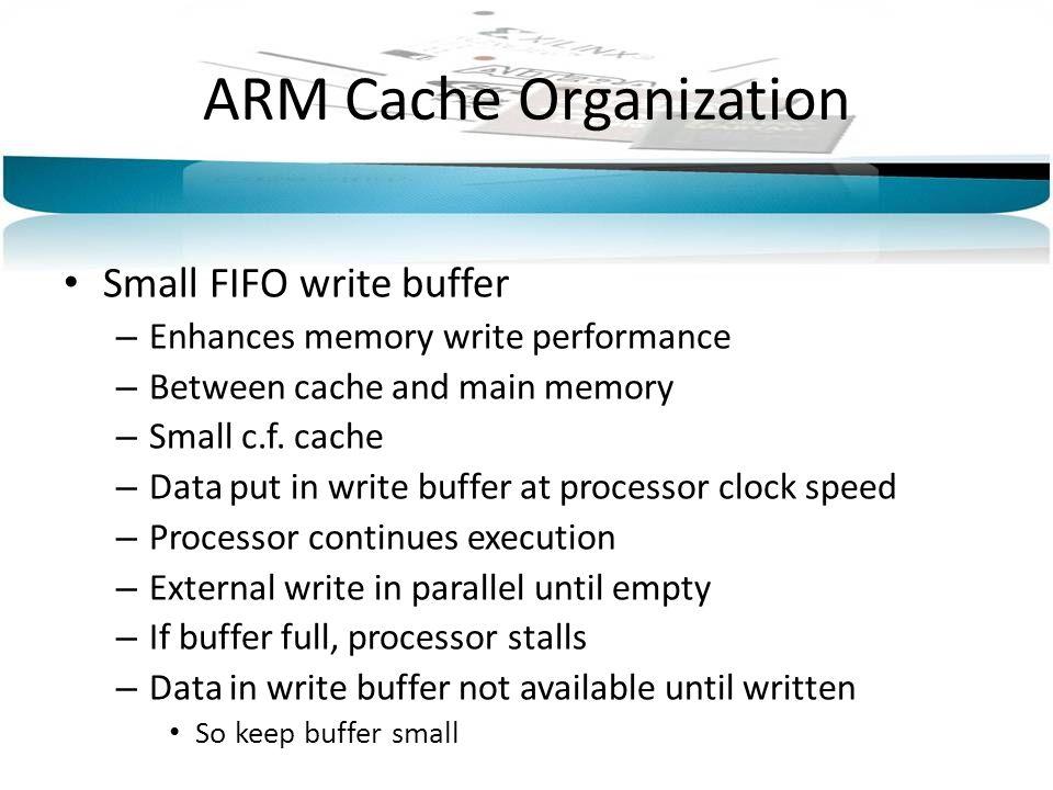 ARM Cache Organization
