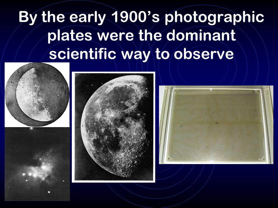 By the early 1900's photographic plates were the dominant scientific way to observe