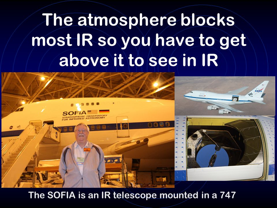 The atmosphere blocks most IR so you have to get above it to see in IR