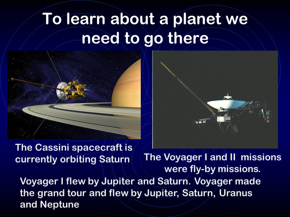 To learn about a planet we need to go there