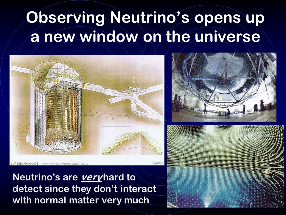 Observing Neutrino's opens up a new window on the universe