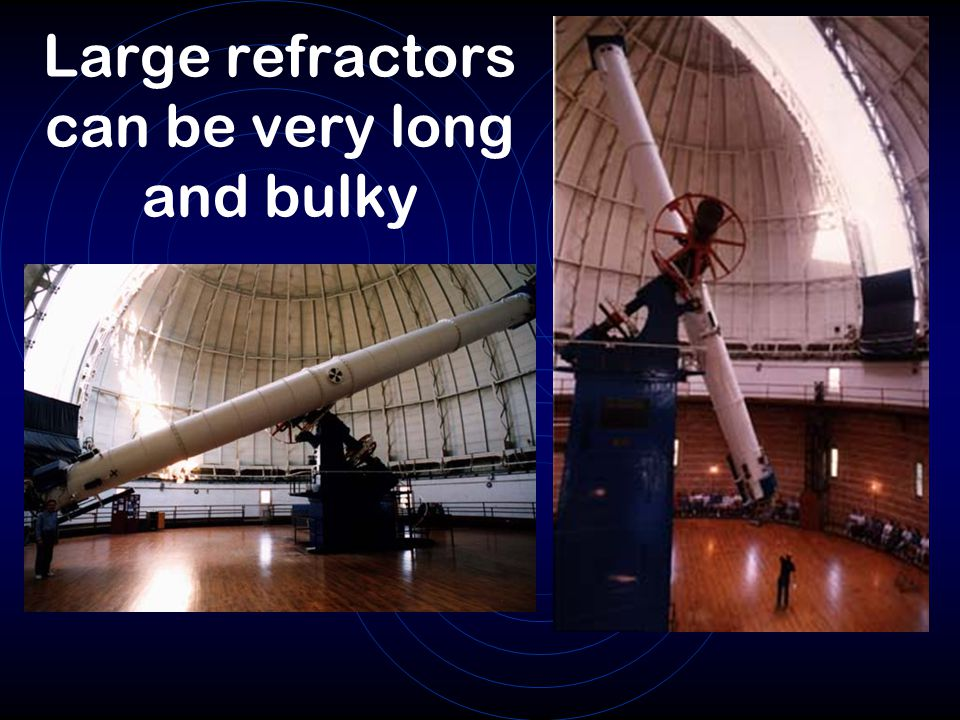 Large refractors can be very long and bulky
