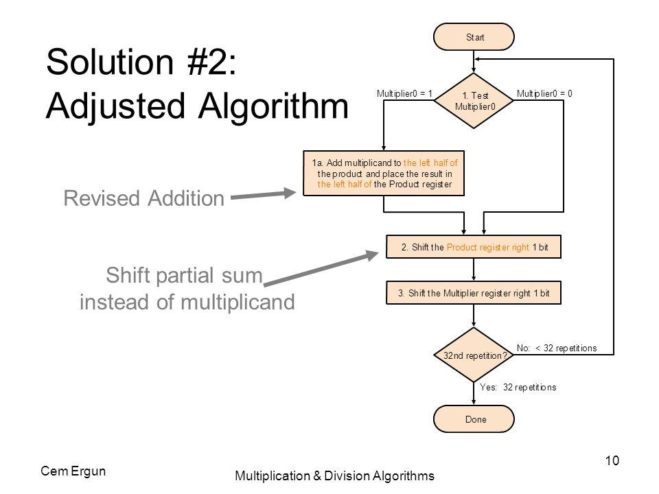 Solution #2: Adjusted Algorithm