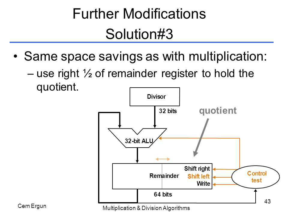 Further Modifications Solution#3